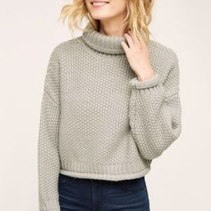 Moon River Chellie Turtleneck Cropped Sweater